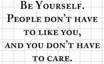 You Don't Have to Care